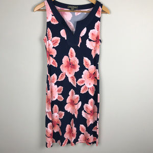 Navy floral Tommy Bahama slvls dress Sz XS